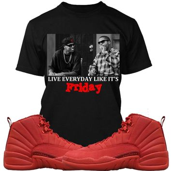 Jordan Retro 12 Gym Red Sneaker Tees Shirts - FRIDAY PG
