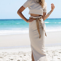 Buy Mitty Stripe Maxi Skirt Online by SABO SKIRT