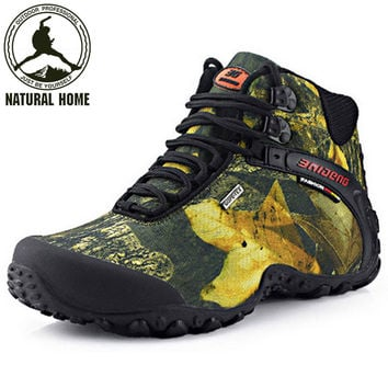 NaturalHome Trekking Boots Anti-skid Mens Outdoor Hiking Climbing Shoes Men Sneakers Waterproof Shoes Boot