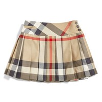 Girl's Burberry Check Print Skirt