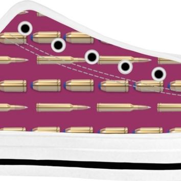 Bullets Shoes White/Purple Low Tops