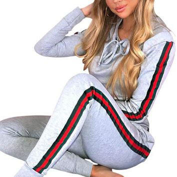 Striped Patchwork Party Jumpsuit Two Piece Set