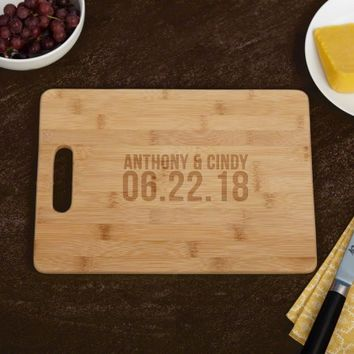 Better Together Personalized Bamboo Cutting Board