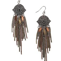 Women's Engraved Earring in Gold/Silver/Copper by Daytrip.