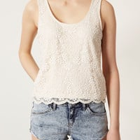 Scallop Lace Vest - Tops - Clothing - Topshop USA