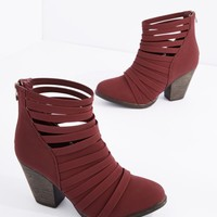 Burgundy Strappy Bootie | Booties | rue21
