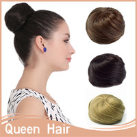 1PC Chignon Hair Styling Synthetic Hair Bun Updos Extension Donut Roller Hair Chignons Bun Hair Chignon For Long Hair
