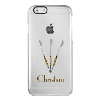 Darts Personalized / Monogram Clear iPhone 6/6S Case