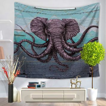 Tapestry Polyester Wall Tapestry Indian Creative Elephant Tapestry Home Decoration Carpet Mandala Toalla Playa Hippie Tapestries