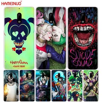 HAMEINUO suicide squad Joker harley quinn cover phone case for Nokia 9 8 7 6 5 3  Lumia 630 640 640XL 2018