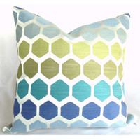 Capri Honeycomb Geometric Pillow