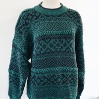 VINTAG WINTER SWEATER- GREEN
