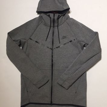 KUYOU Nike Tech Fleece hoodie grey 805144-091