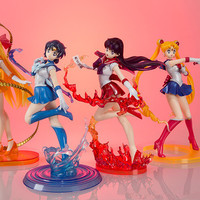Sailor Moon Figure Figuarts Zero 180mm Sailor Mars Zero Mercury Venus PVC Sailor Moon Zero Action Figure Anime Sailor Moon Toys