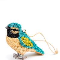 Glittered Audubon Ornament