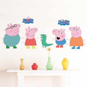 cute cartoon animals funny popular Wall Sticker DIY Home Decor decroative For Kids Room girls bedroom wall art