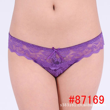 sexy thong lace G-String T word pants spot brand monopoly multi color