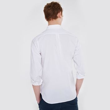 Solid Color Cotton Shirt Men Long Sleeve Business Casual Shirt Male Slim chemise