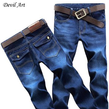 New 2017 Middle-aged Men's Big Size 28-42 Casual Brand Spring Straight Denim Jeans Man Trouser Cowboy Pant Male Cotton Jeans