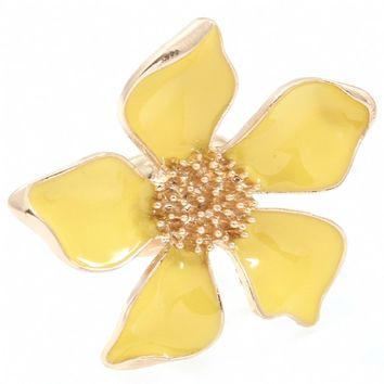 Caroline's Gold Large Yellow Flower Cocktail Ring-Final Sale