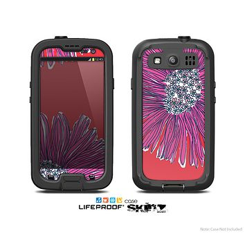 The Artistic Purple & Coral Floral Skin For The Samsung Galaxy S3 LifeProof Case