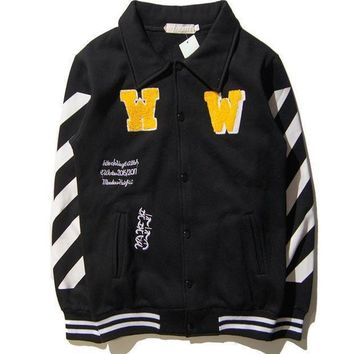 Off White Sports On Sale Hot Deal Couple Jacket Baseball [11501028364]