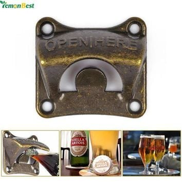 ICIKU7Q 1Pcs Vintage Antique Iron Wall Mounted Bar Beer Glass Bottle Cap Opener Kitchen Tools Bottle Opener Beer Opener With 4 Srews