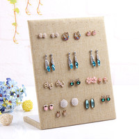 L model earring display shelf linen bangles organizer ear stud holder stand for jewelry rack dangle earrings frame display shelf
