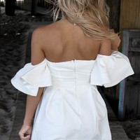 Costa Mesa White Woven Dress