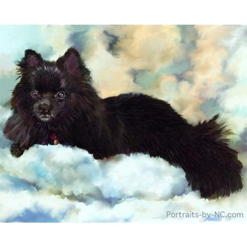 Custom Painted German Spitz Portrait 657