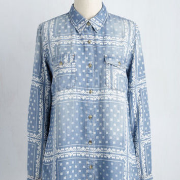 Bluegrass-Roots Movement Top | Mod Retro Vintage Short Sleeve Shirts | ModCloth.com