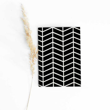 hand screenprinted small A6 notebook pocket journal recycled paper sketch book geometric print