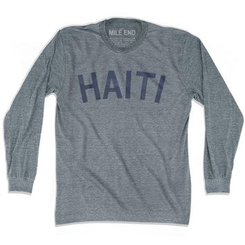 Haiti City Vintage Long Sleeve T-shirt