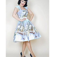 1950s Style Winter Wonderland Veronique Swing Dress