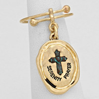 Serenity Prayer Engraved Charm Ring