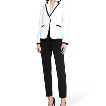 Tahari ASL Framed Notch Collar 2-Piece Pant Suit | Dillards
