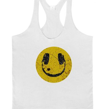 EDM Smiley Face Mens String Tank Top by TooLoud