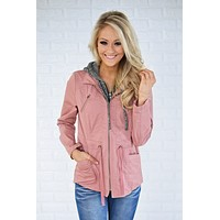 Essential Fall Jacket - Mauve