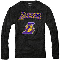 Majestic Los Angeles Lakers Long Sleeve Triblend T-Shirt