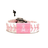 Gamewear MLB Leather Wrist Band - Angels (Pink)