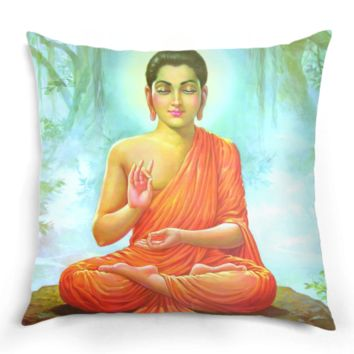 Hindu Influenced Buddha Pillow
