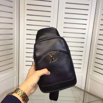 LV Louis Vuitton MEN'S NEW FASHION LEATHER CHEST PACK CROSS BODY BAG