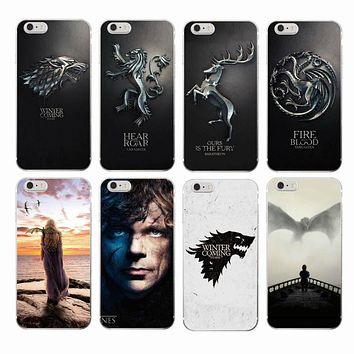 Game Thrones Daenerys Dragon Jon Snow tyrion lannister Soft Phone Case Fundas For iPhone 7 7plus 6 6S 6Plus 5 8 8Plus X
