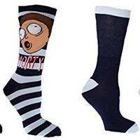 Rick And Morty Get Schwifty 2 Pack Casual Crew Socks