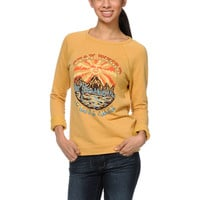Obey Stay Weird Amber Gold Echo Crew Neck Sweatshirt