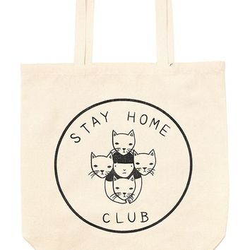 Stay Home Club Oversized Tote Bag
