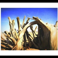 Driftwood Sculpture Framed Print