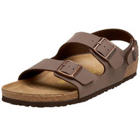 Birkenstock Womens Leather Solid Strap Sandals