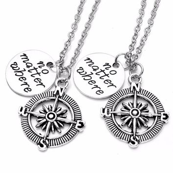 No Matter Where Friendship/Couples Necklace