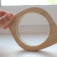 Made from OAK - 15 mm Wooden bracelet unfinished eye shape - natural eco friendly NE15-OAK